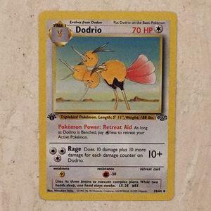 Dodrio 1st Edition 34/64 Pokémon Card Jungle 1999